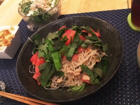 痩る 食事 レシピ 和風パスタ風春雨